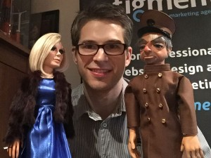 Steve Grant with London Agent Lady Penelope and Parker from Thunderbirds