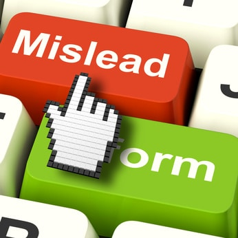 Mislead Inform Computer Showing Misleading Or Informative Advice