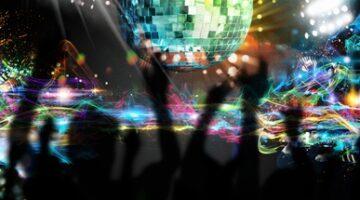 Dancing in nightclub