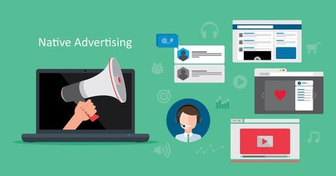 native adverts are purposely designed to fit in with their online environments