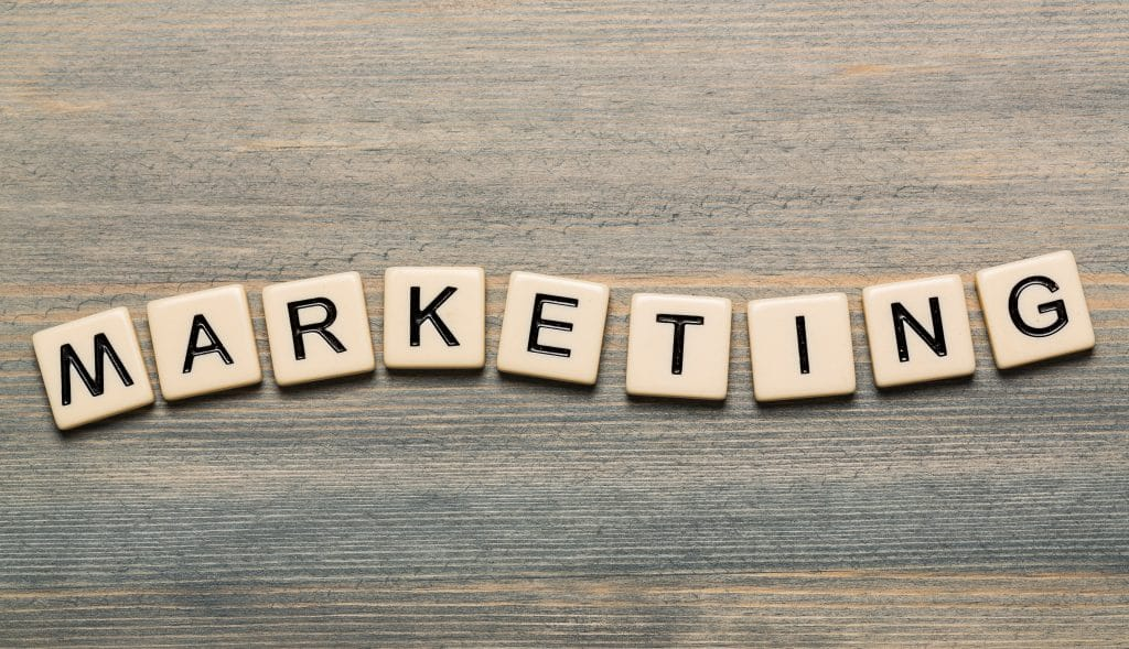 Marketing on letter cubes