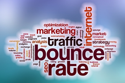 Bounce rate is the percentage of visitors to your website that leaves without staying to look around.
