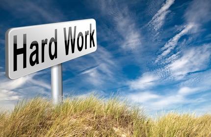 Hard work sign