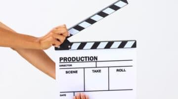 Blank movie clapper board