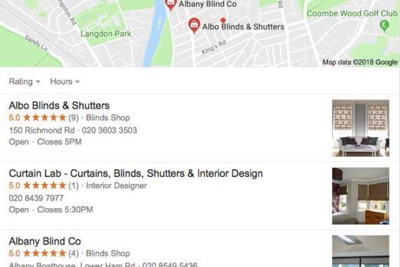 Albo Blinds & Shutters Top Google Rank
