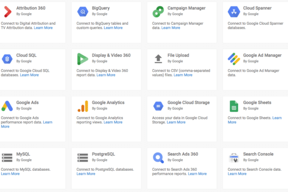 google data studio data sources