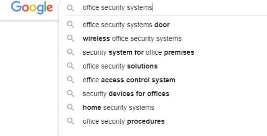 semantic keywords Google autocomplete